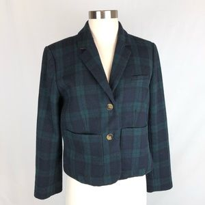 Anthropologie Cartonnier Plaid Kentfield Blazer